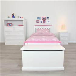 Rainbow White & Pink Single Bed
