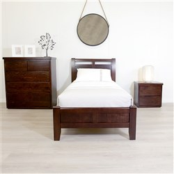 Calypso Chocolate Single Bed