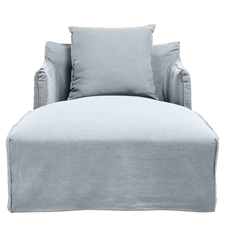 Como Linen Moody Blue Day Bed Cover