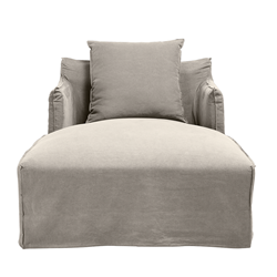 Como Linen Stone Day Bed Cover