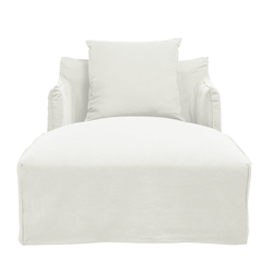 Como Linen White Day Bed Cover