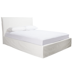 Noosa White Double Bed Cover