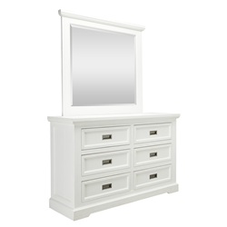 Aspen Brushed White Dresser Base