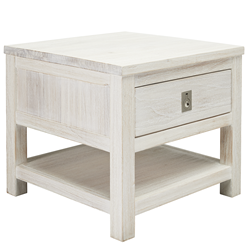 Florida Brushed White Lamp Table