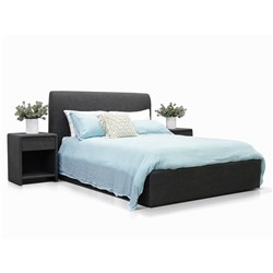 Forbes Charcoal Double Bed