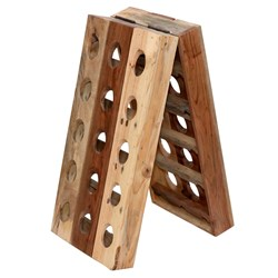 Suula Recycled Wood Wine Holder