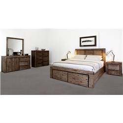 Cube Drawer King Dresser Suite