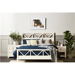 Florida Brushed White Queen Bed